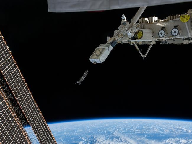 Japanese Robotic Arm International Space Station. Picture: NASA