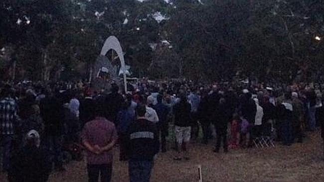 The Anzac Day dawn service at the Blackboy Hill training camp commemorative site in Greenmount. Picture: Kaitlyn Offer