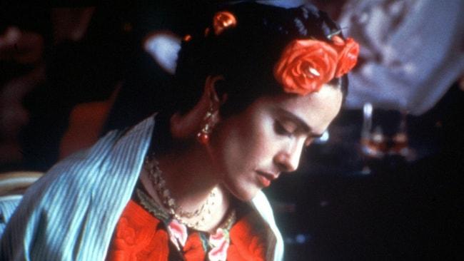 Salma Hayek in character as Frida Kahlo. Photo: Supplied