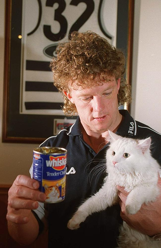 Geelong great Garry Hocking changed his name to Whiskas to promote cat food. Cameron L'Estrange