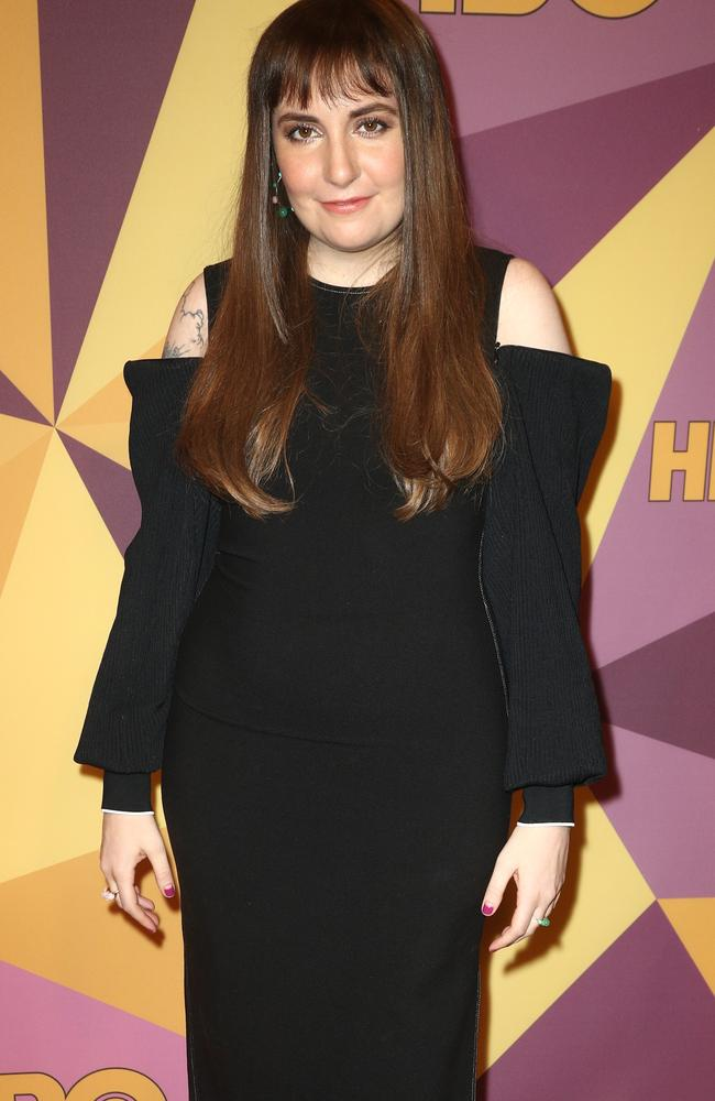 Lena Dunham attended HBO's Golden Globes party in Los Angeles last night. Picture: Getty Images