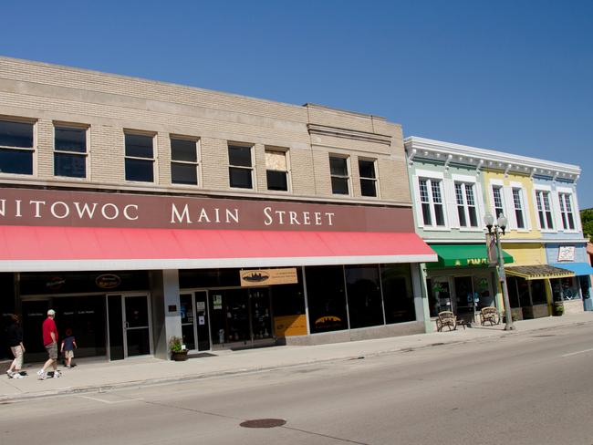 People wander down Manitowoc 8th Street, but they don't want to talk about Steven Avery.