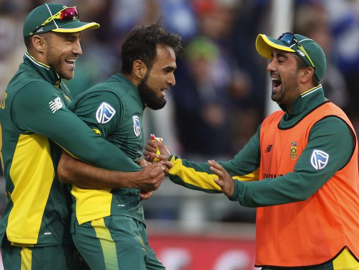 It's hard to hold Imran Tahir back when he's fired up.