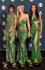 Destiny's Child were the victims of matching green frocks at the 2001 Grammys. Picture: David McNew/Newsmakers