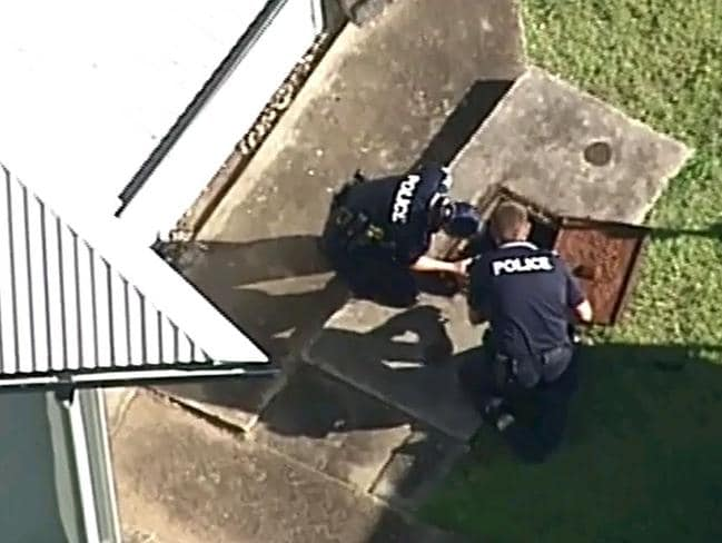 The septic tank where the adult bones were found. Picture: Channel 7