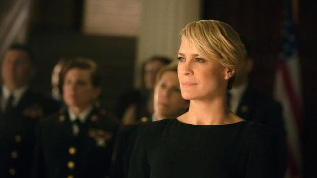 Robin Wright as Claire Underwood in a scene from House of Cards.