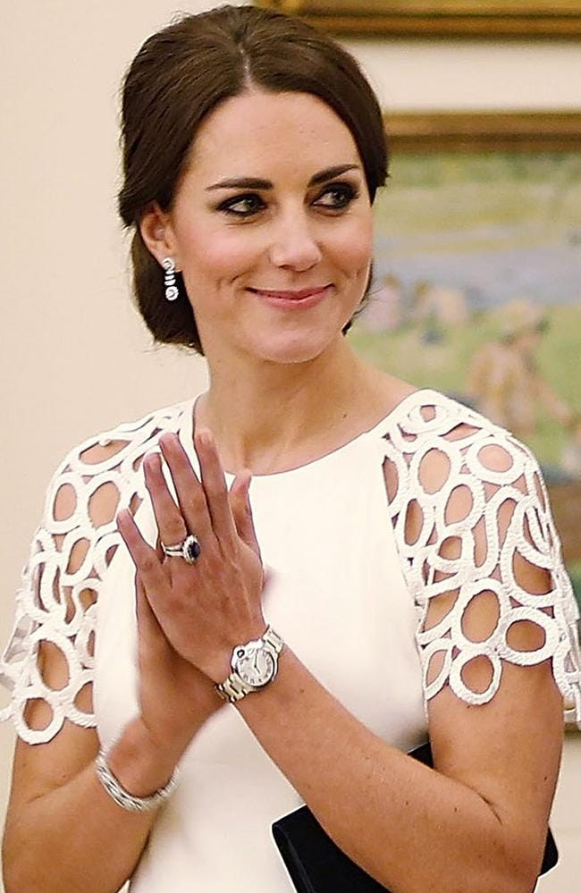 She wore the pieces during her trip to Australia, as seen here. Picture: Stefan Postles/Getty Images