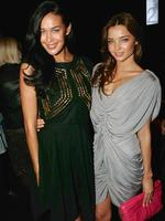 <p>Glamour girls ... Australian Fashion Week Models Megan Gale and Miranda Kerr at Australian Fashion Week, Circular Quay in 2008.</p>