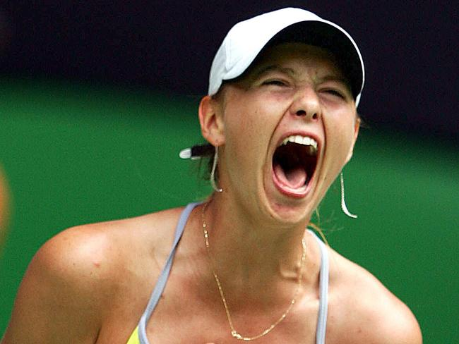 Maria Sharapova has one of the loudest screams in tennis. Crowd noise would drown it out.
