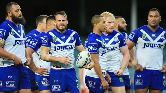 Bulldogs players during their disappointing finals loss to Penrith. pic Mark Evans