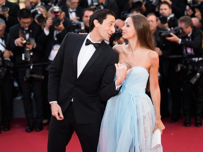 Actor Adrien Brody and Lara Lieto. Picture: Matthias Nareyek/Getty Images
