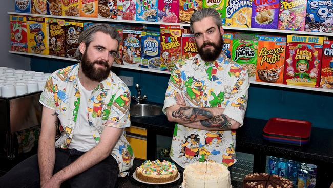 Cereal Killers owners Alan and Gary Keely had their business attacked. Picture: Josh Puleston