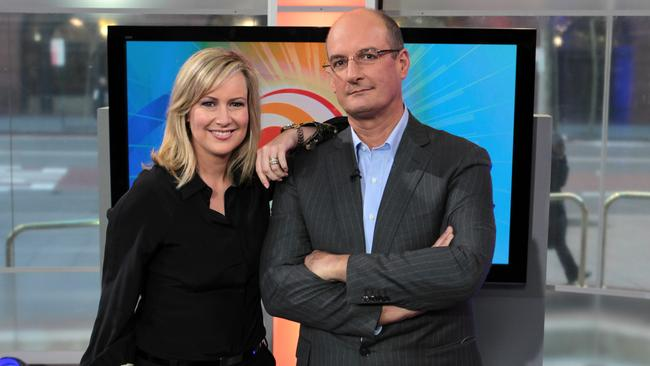 "Behind the smiles ... the ""suburban mum"" Melissa Doyle and ""daggy finance nerd"" David Koch, who Adam Boland turned into household names."