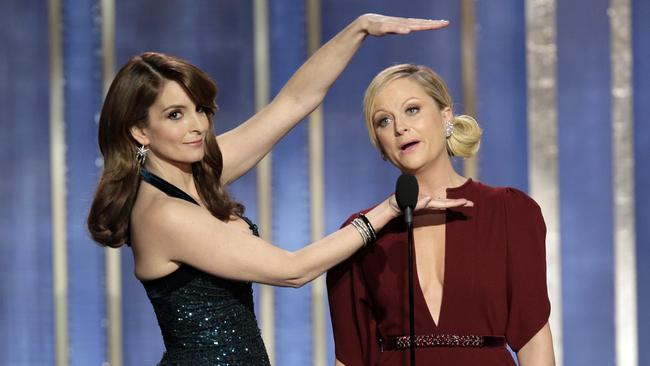 Partnership ... three-time Golden Globe hosts Tina Fey and Amy Poehler.