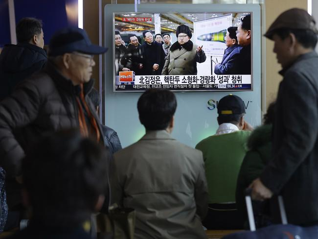 North Korea has been hit by harsh sanctions and its people are being told of its military might. The truth is somewhat less daunting. Picture: AP / Ahn Young-joon