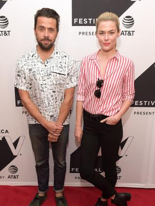 Mike Piscitelli and Rachael Taylor at the Tribeca TV Festival.