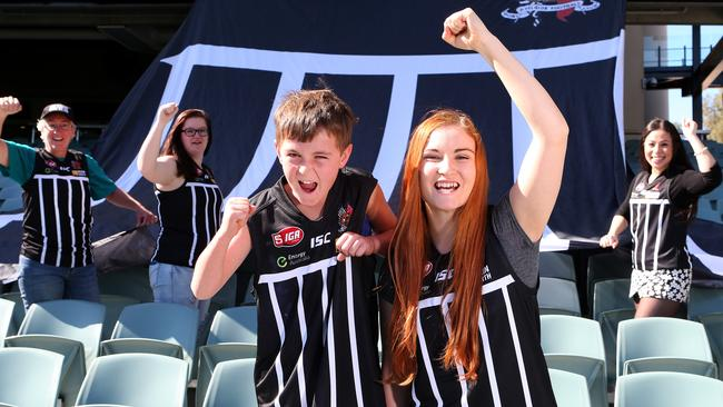 "Port Adelaide will hold a heritage ""Black and White night"" against Carlton. Picture: Sarah Reed."
