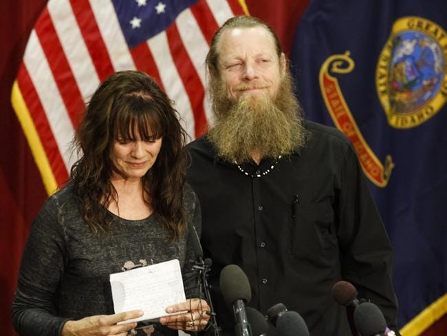 Celebrating ... Bowe Bergdhal's parents Jani and Bob Bergdahl speak to the media. Sgt. Bergdahl can expect a buoyant homecoming after five years in Taliban hands, but those in the government who worked for his release face mounting questions over the prisoner swap that won his freedom.