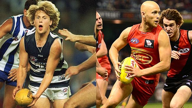 Gary Ablett was also recruited in that draft. That's him under the mop of hair.
