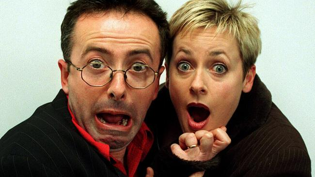 Andrew Denton and Amanda Keller hosted the Triple M breakfast show in Sydney.