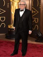 Director Martin Scorsese on the red carpet at the Oscars 2014. Picture: Getty