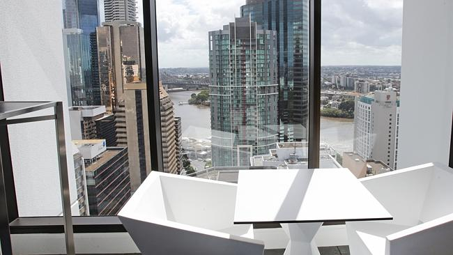 The view from an upper floor of the newly opened Four Points by Sheraton in Brisbane's CB