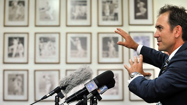 Former Test opener Justin Langer has been selected as the man to revive WA cricket. Picture: Stewart Allen