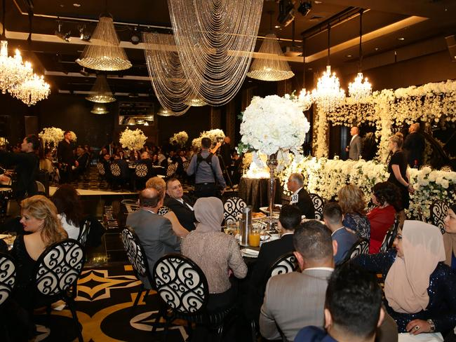 Salim Mehajer's sister Kat and her new husband Ibraham's wedding reception held at Doltone House, Hyde Park. Picture: Jonathan Ng