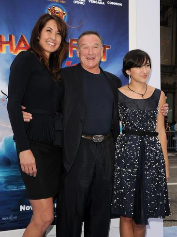 "Susan Schneider, actor Robin Williams, and daughter Zelda Williams attend the Premiere of Warner Bros. Pictures' ""Happy Feet Two"" at Grauman's Chinese Theatre on November 13, 2011 in Hollywood, California. Picture: Getty"