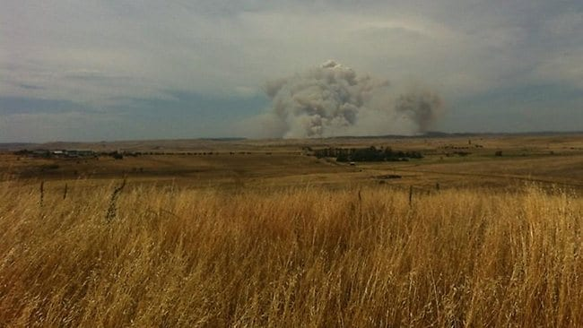 Jess posted this image of the Yarrabin fire on Twitter: View of the #Yarrabin fire from Cooma #NSWfires. Picture: Jess@Aristophania/Twitter
