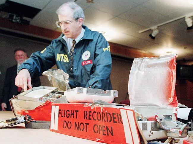 Recovered ... the black box from TWA Flight 800, which exploded over the Atlantic Ocean in 1996.