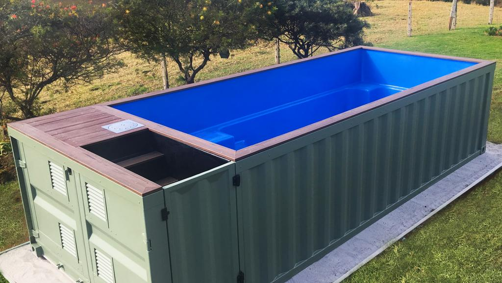 shipping container pools take off reshniratnam couriermail the courier mail. Black Bedroom Furniture Sets. Home Design Ideas