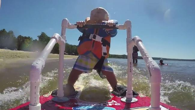 Auburn Absher Six Month Old Waterskier Herald Sun