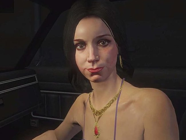 Here's lookin' at you … The first-person view of a prostitute in Grand Theft Auto V.
