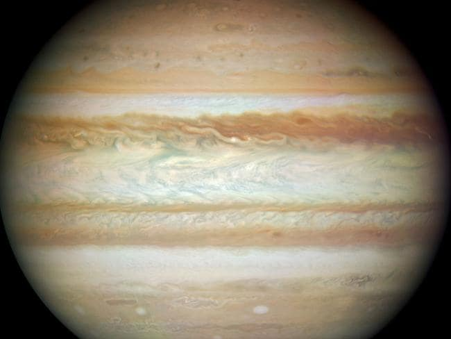 Cloud maths ... Scientists have 'rebuilt' Jupiter's complex atmosphere in a weather simulation. Picture: NASA