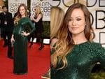 Golden Globes 2014 red carpet arrivals at the Beverly Hilton: Olivia Wilde. Picture: Getty