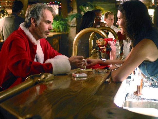 Billy Bob Thornton with Lauren Graham in scene from film Bad Santa. Picture: Supplied