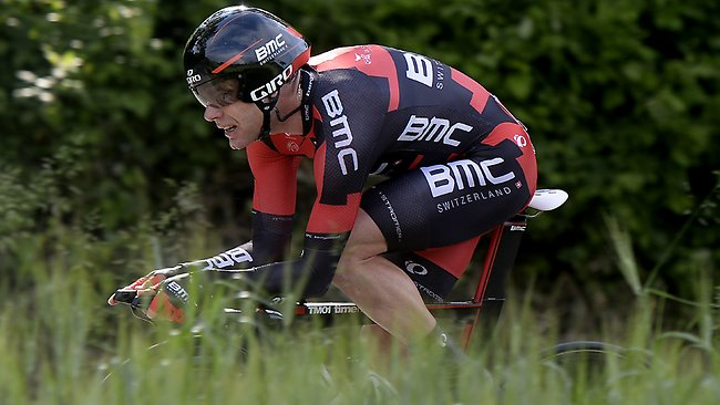 Australia's Cadel Evans pedals during the eight stage of the Giro d'Italia.