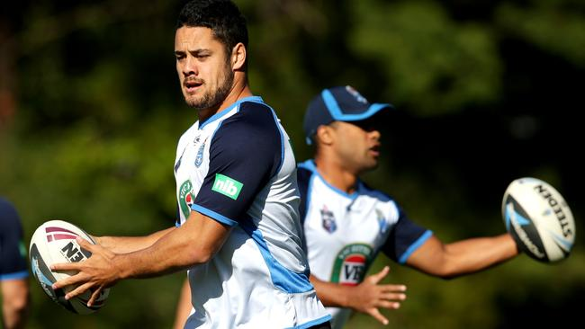 Jarryd Hayne in NSW camp. Picture: Gregg Porteous