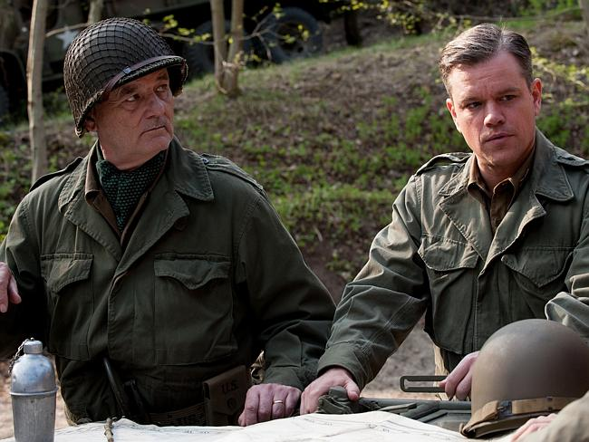 Look who's here ... Bill Murray (playing Richard Campbell) and Matt Damon (James Granger) in a scene from film The Monuments Men. Picture: Supplied
