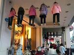 This eerie shop layout sees mannequins danging from the ceiling by their necks... for no reason whatsoever.