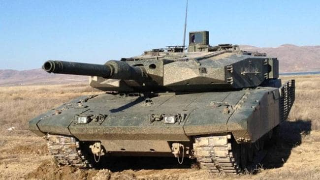 Front line ... Leopard 2 Main Battle Tanks represent the cutting-edge of Turkey's ground forces.
