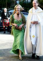 <p>At her son Rupert Bryce's wedding to Rachel Moor in 2005.</p>