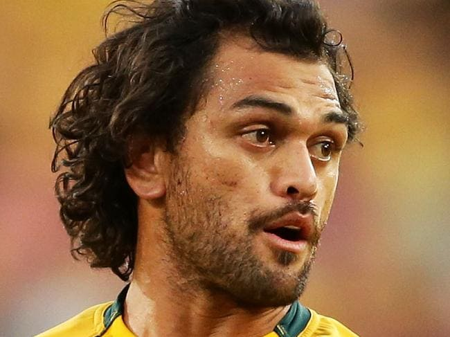 BRISBANE, AUSTRALIA - JUNE 24:  Karmichael Hunt of the Wallabies looks on during the International Test match between the Australian Wallabies and Italy at Suncorp Stadium on June 24, 2017 in Brisbane, Australia.  (Photo by Matt King/Getty Images)