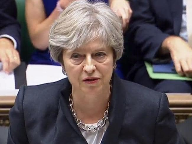 Britain's Prime Minister Theresa May said Brexit will happen in 2019. Picture: AFP Photo/PRU