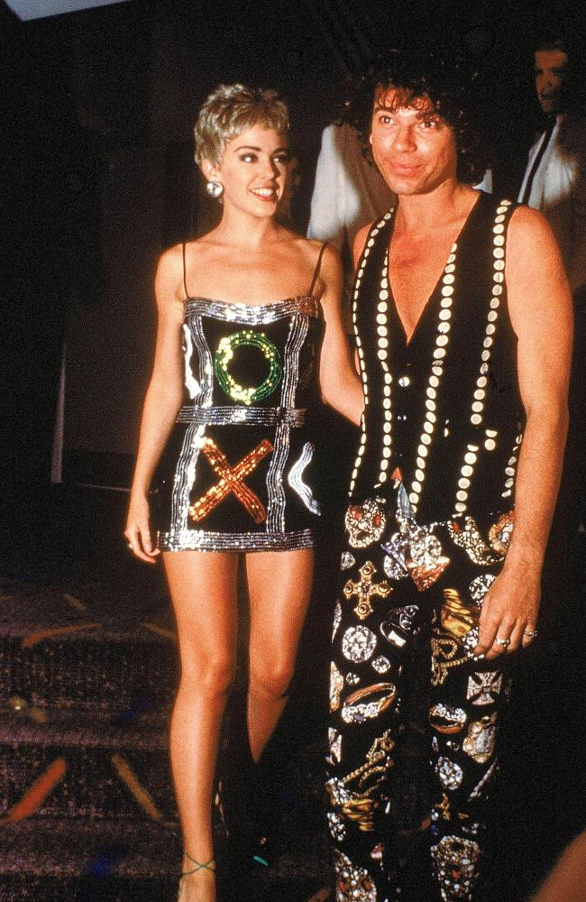 Strong bond ... Kylie Minogue and Michael Hutchence, Australia's hot couple of the 90s, s
