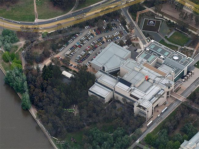"Canberra in 3-D: #3 National Gallery of Australia ""What a wonderful testament to the Australian Arts"". Photo: Google Maps"