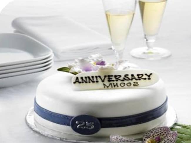 "One of the ""special occasion"" cakes now on offer with Malaysia Airlines."