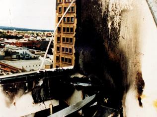 National Crime Authority building in Waymouth Street after parcel bomb explosion 02 Mar 1994 which killed NCA officer Geoffrey Bowen. /Bomb/explosions/SA