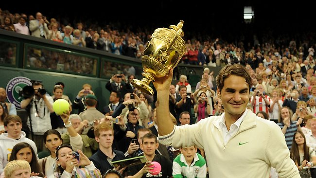 Roger Federer after winning the 2012 Wimbledon final. Was this the highlight of the year?